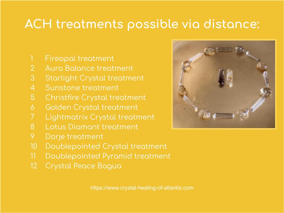 ACH treatments possible via distance